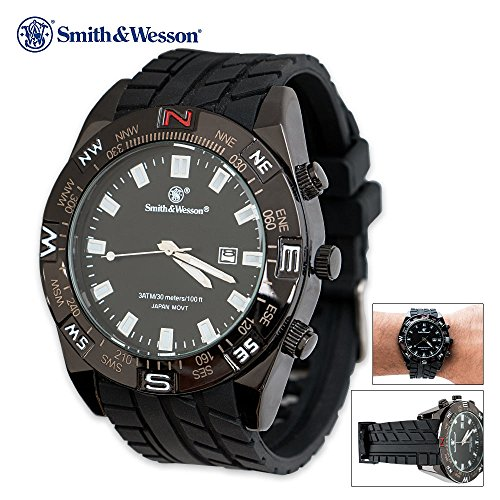 Smith & Wesson Waterproof Tactical Watch – Black