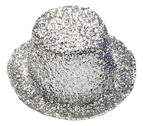 Forum Novelties Party Supplies Unisex-Adults Mini Glitter Top Hat, Silver, Standard, Multi]()