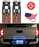vw jetta 2000 interior parts - LED Monster 2-Pack Ice Blue 3-SMD LED Bulbs (3030 Chipset) for Car Interior Dome Map Door Courtesy License Plate Lights Extremely Bright Compact Wedge T10 168 194 2827