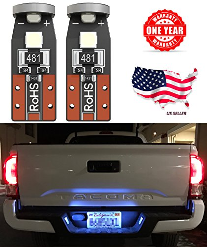 LED Monster 2-Pack Ice Blue 3-SMD LED Bulbs (3030 Chipset) for Car Interior Dome Map Door Courtesy License Plate Lights Extremely Bright Compact Wedge T10 168 194 2827