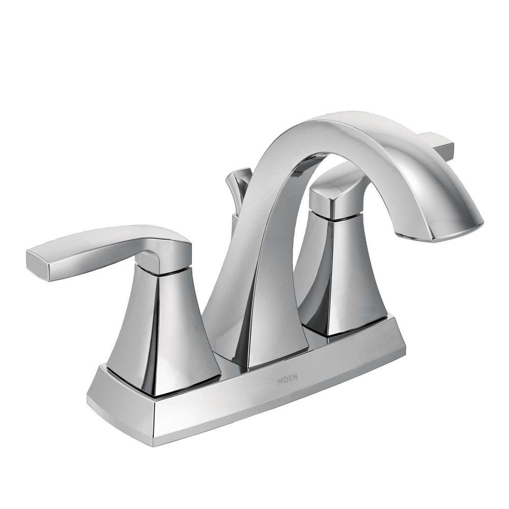 Moen Voss Two-Handle High Arc Bathroom Faucet, Chrome (6901 ...