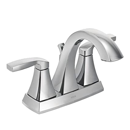 Moen Voss Two-Handle High Arc Bathroom Faucet, Chrome (6901 ...