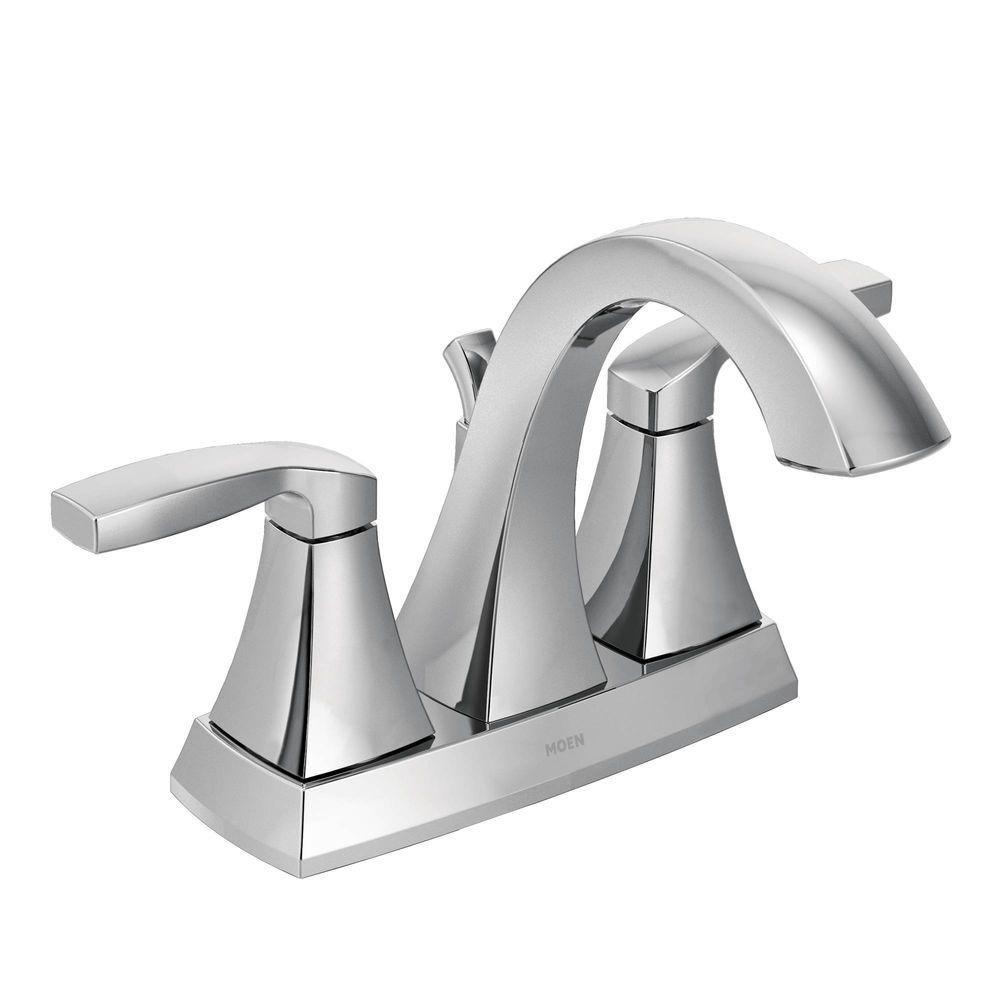 Moen Voss Two-Handle High Arc Bathroom Faucet, Chrome (6901)