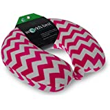 World's Best Feather Soft Microfiber Chevron Design Neck Pillow, Pink