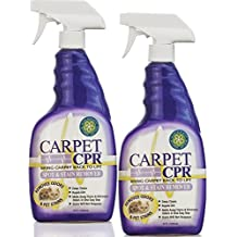 Carpet CPR (34oz / 2Pk) Eliminates Stains & Pet Odors in One Easy Step – Wipes out Pet Stains, Red Wine Spills, Dirt, Grease & More – Treats Spots, Deep Cleans & Repels Dirt in Minutes