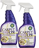 Carpet CPR (2PK / 34oz Bottles) – Spot Treatment & Dirt Repellent for High Traffic Areas and Your Toughest Stains – Treats Spots, Deep Cleans & Repels Dirt in Minutes