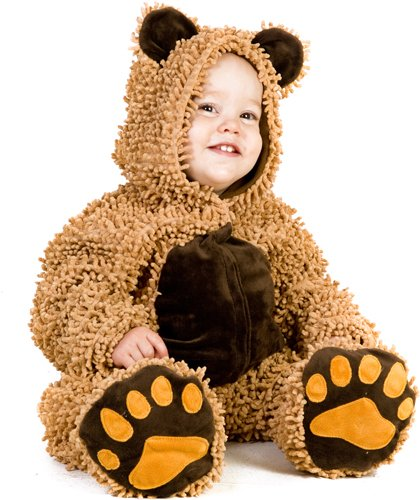Princess Paradise Baby's Chenille Teddy Bear, Brown, 6 to 12 months