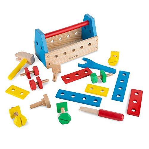 Melissa & Doug Take-Along Tool Kit Wooden Construction Toy (24 pcs)