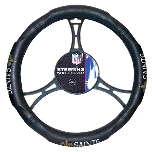 Officially Licensed NFL New Orleans Saints Steering Wheel Cover Football Merchandise