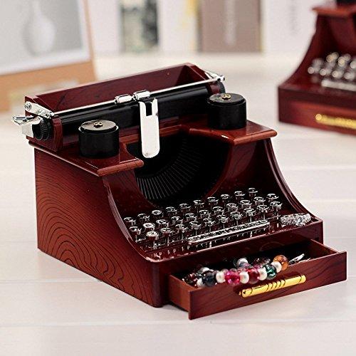 WHH Kreative retro Schreibmaschine Spieluhr Musik Kassette von kleinen Schubladen zu Hause ornaments Weihnachtsgeschenke