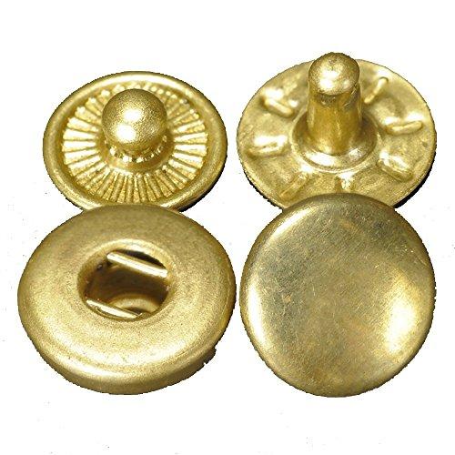 スナップボタン 真鍮 アンティーク調 8mmの商品画像
