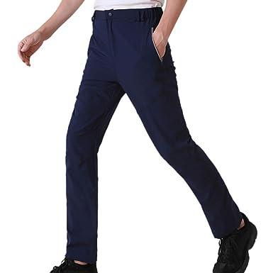 FRAUIT - Pantalones de hombre de trekking impermeables con secado ...