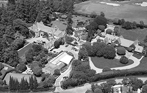 24 x 36 B&W Giclee Print Aerial View Hugh Hefner's Mansion Located in Los Angeles, California 2012 Highsmith 18a (Best Mansions In Los Angeles)