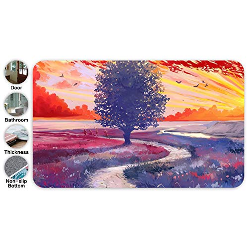 LunchBGE Tree Path_ Big Carpets Floor Mat Cover Floor Rug Outdoor Washable Garden Pet Entry Rugs with Non Slip Backing ()