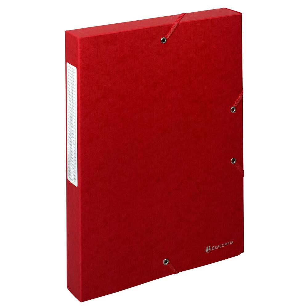 Exacompta 50815E - Carpeta de proyecto con goma, color rojo