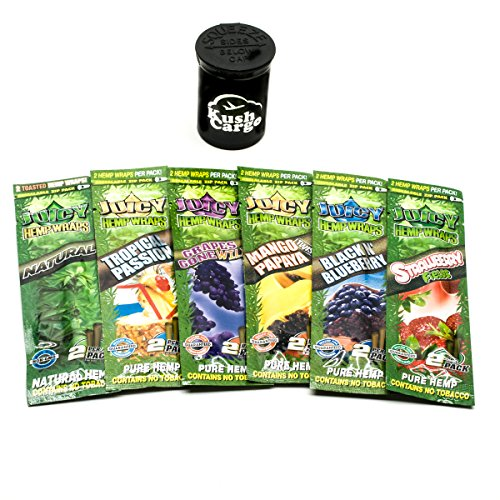 Juicy Hemp Wraps All Natural Variety Pack 6 Pack with KC Pop Top by Juicy, KC