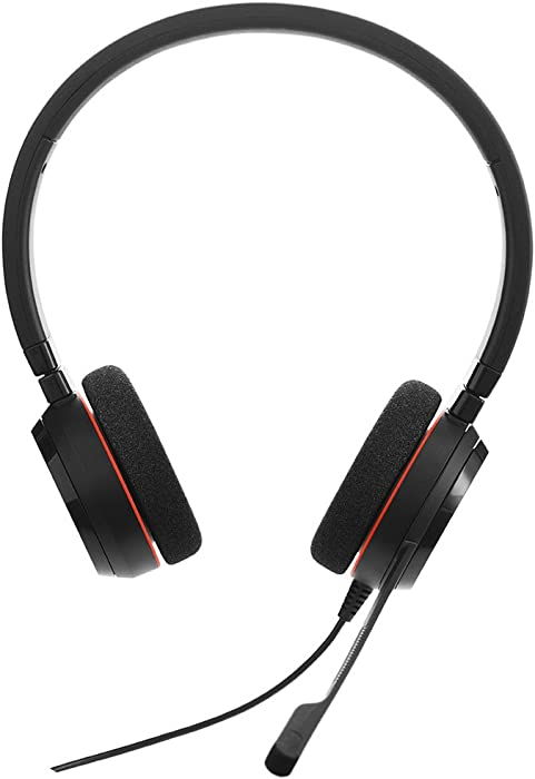 Jabra Evolve 20 UC Wired Headset, Stereo Professional Telephone Headphones for Greater Productivity, Superior Sound for Calls and Music, USB Connection, All Day Comfort Design