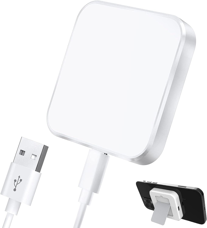 Hoidokly Cargador magnético rápido para Soporte Desmontable, 15W Almohadilla de Carga inalámbrico rápido para iPhone 12/12 Pro/12 Pro MAX, iPhone SE 2020/11/11 Pro MAX/XS MAX/XR/X/8