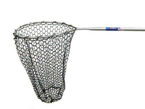 Ranger 345RD Hook-Free and Tangle Free Molded Rubber Knotless Landing Net (36-Inch Handle, 18-Inch Round Hoop, 24-Inch Net Depth) ()