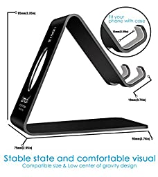 Cell Phone Stand, Lamicall S1 Dock : Cradle, Holder, Stand For Switch, all Android Smartphone, iPhone 6 6s 7 Plus 5 5s 5c charging, Accessories Desk - Black