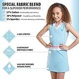 Girl Tennis Outfit – Sleeveless V Neck Tennis