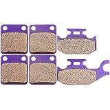 SCITOO Front Rear Kevlar Carton Brake Pads fit Kodiak Yamaha YFM 400 450 4x4 2000-2006 2001 2002 2003 2004