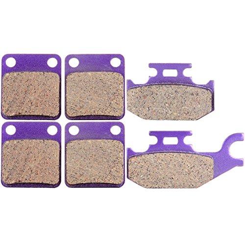 SCITOO Front Rear Kevlar Carton Brake Pads fit Kodiak Yamaha YFM 400 450 4x4 2000-2006 2001 2002 2003 (Yamaha Kodiak 450 Auto)