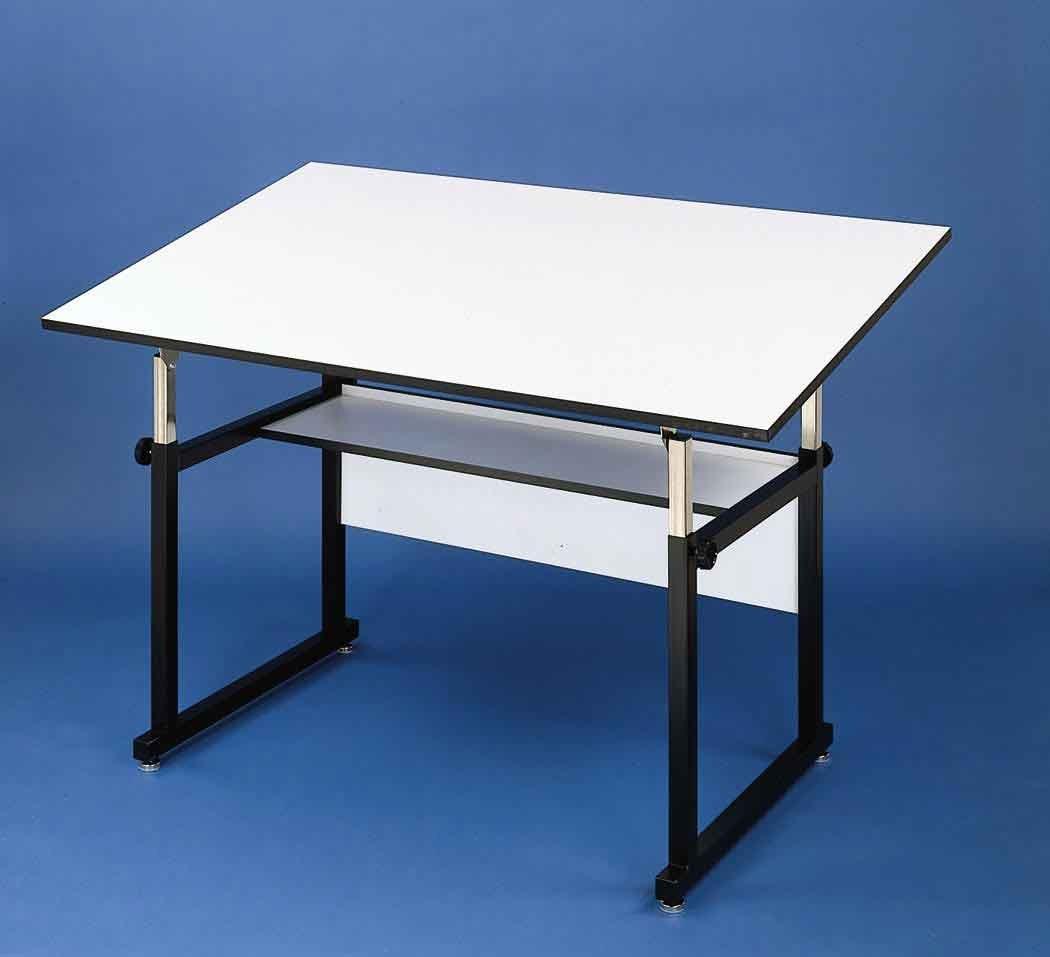 Alvin WM48 3 XB WorkMaster Table, Black Base White Top 36 inches x 48 inches Alvin & Company Inc.