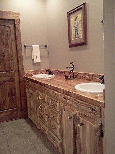 Superbe Rustic 60 Inch White Cedar Bathroom Vanity