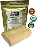 Real CERTIFIED Organic Cocoa Butter Bars, Premium Non-Deodorized, X-Large 1 LB Tot.Wt. (Two 8.0 oz Bars) AUTHENTIC ORGANIC! Amazing Chocolate Aroma From Cacao Beans! Naturally Rich In Antioxidants!
