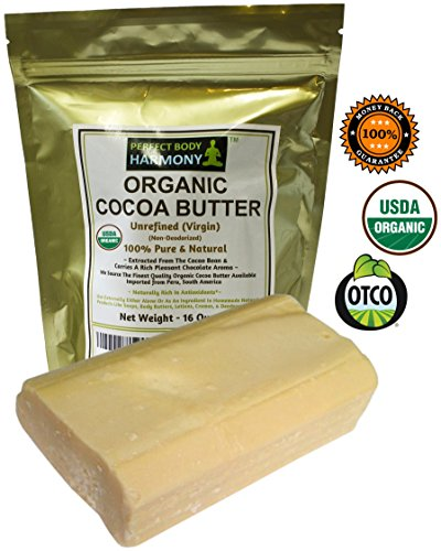 Spectacular Chocolate Chip - Real CERTIFIED Organic Cocoa Butter Bars, Premium Non-Deodorized, X-Large 1 LB Tot.Wt. (Two 8.0 oz Bars) AUTHENTIC ORGANIC! Amazing Chocolate Aroma From Cacao Beans! Naturally Rich In Antioxidants!