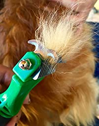 K9KONNECTION Double Sided Dematting Comb & Grooming Brush for Dogs & Cats with Stainless Steel Pet Safe Blades | Tool Removes Undercoat Knots, Mats & Tangled Hair | Veterinarian Approved!