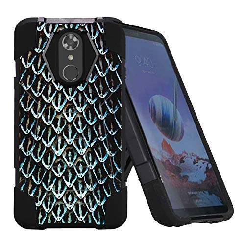 (LG Stylo 4 / Stylo 4 Plus Phone Cover Case by [TalkingCase], Black Premium Double-Layer Armor Case, Ruggedized w/Kickstand, Made Specially for LG Stylo4,Stylo4 Plus [Snake Skin Scale] Design)