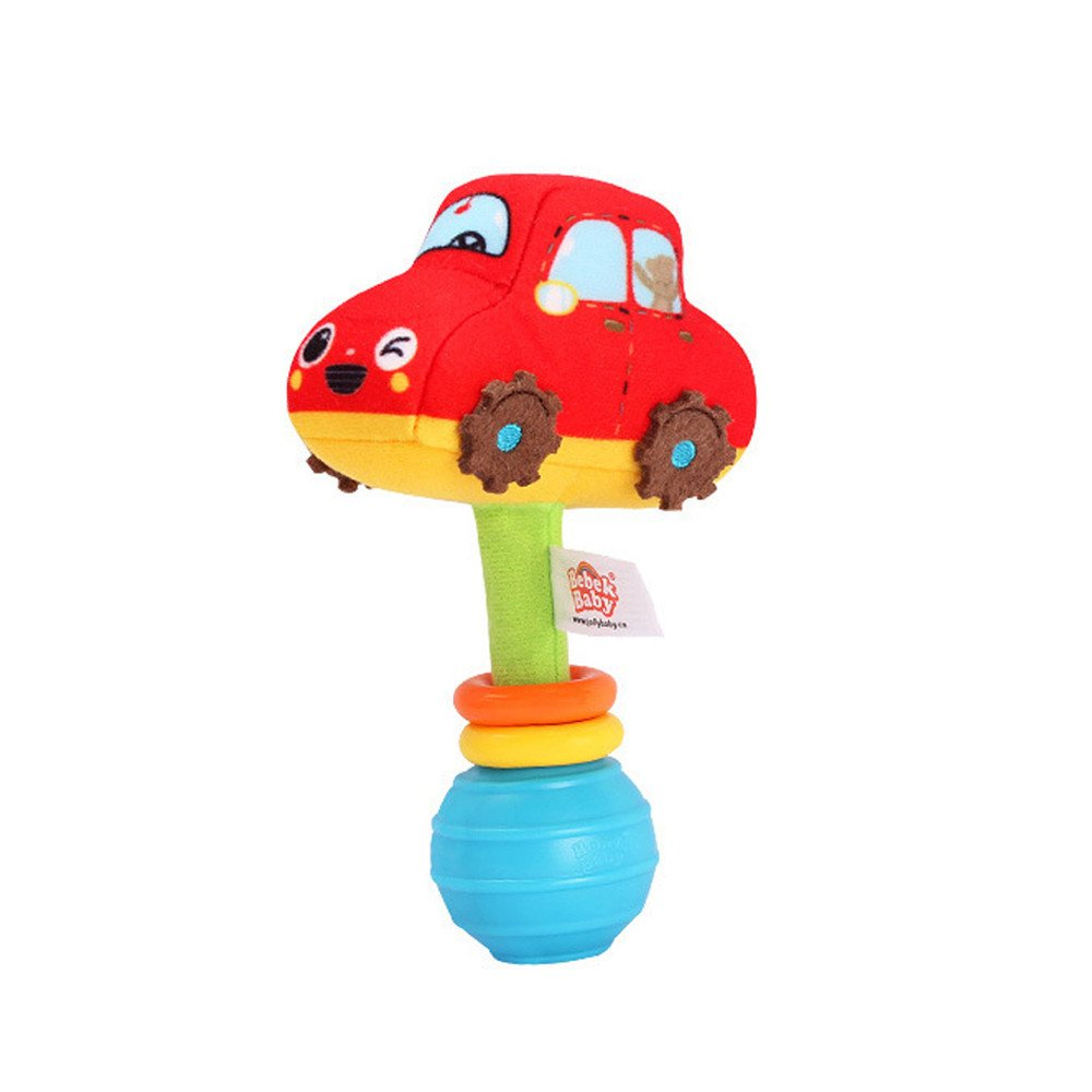 serzul Bebek赤ちゃん、Plush RattlesハンドルPulling PlayおもちゃベビーベッドベビーカーHanging 11cmX7cm  B B07BKTJ5TM