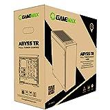 GameMax Abyss ARGB PC Gaming Case, E-ATX, 1 x 120mm