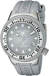 Swiss Legend Women's 11044D-014 Neptune Light Grey Dial Light Grey Silicone Watch