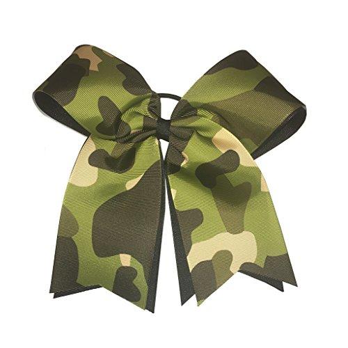 Camouflage Cheerleader Hair Bow (Handmade Camouflage)