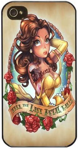Belle, la bella y la bestia - de princesas Disney tatuaje con texto en ...