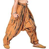 Fashion los agricultores Tie Dye Harem Pant con banda de cintura elástica y cordón.