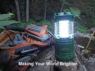 SIERRA LEDs - Super Bright LED Camping Lantern. Perfect for Camping, Fishing, Power Outages, Emergencies, Hurricanes. Lightweight - Water Resistant - Green