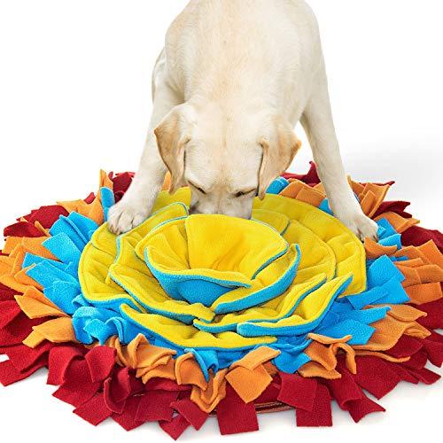 Alfombra Olfativa Perros Forma de Flor Manta Juguetes Interactivos para Perros