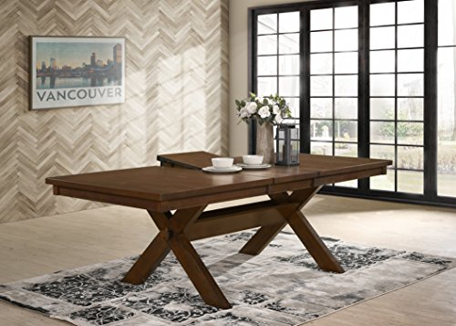 Roundhill Furniture Karven 9-Piece Solid Wood Dining Set with Table and 8 Chairs by Roundhill Furniture (Image #10)