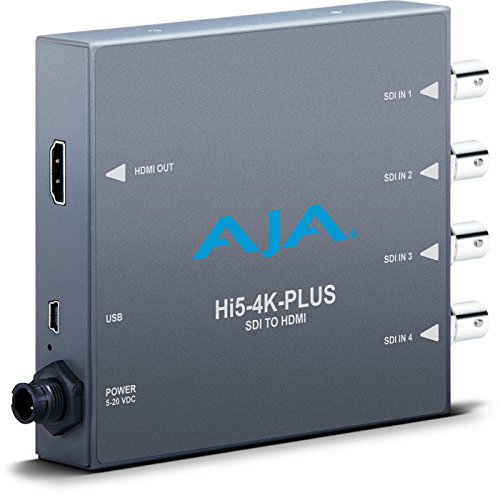 AJA HI5-4K-PLUS 4K/UltraHD SDI to HDMI 2.0 Mini Converter ()
