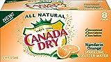 Canada Dry Mandarin Orange Sparkling Seltzer Water, 12 fl oz cans, 8 count