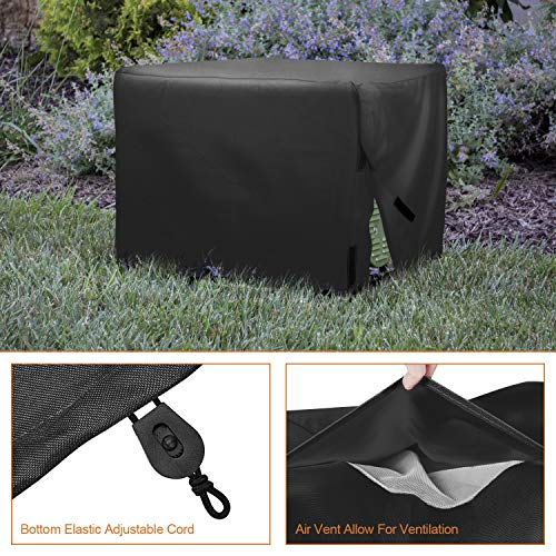 Leader Accessories Durable Universal Waterproof Generator Cover (31'' Lx 29'' Wx 28'' H, Black) by Leader Accessories (Image #5)