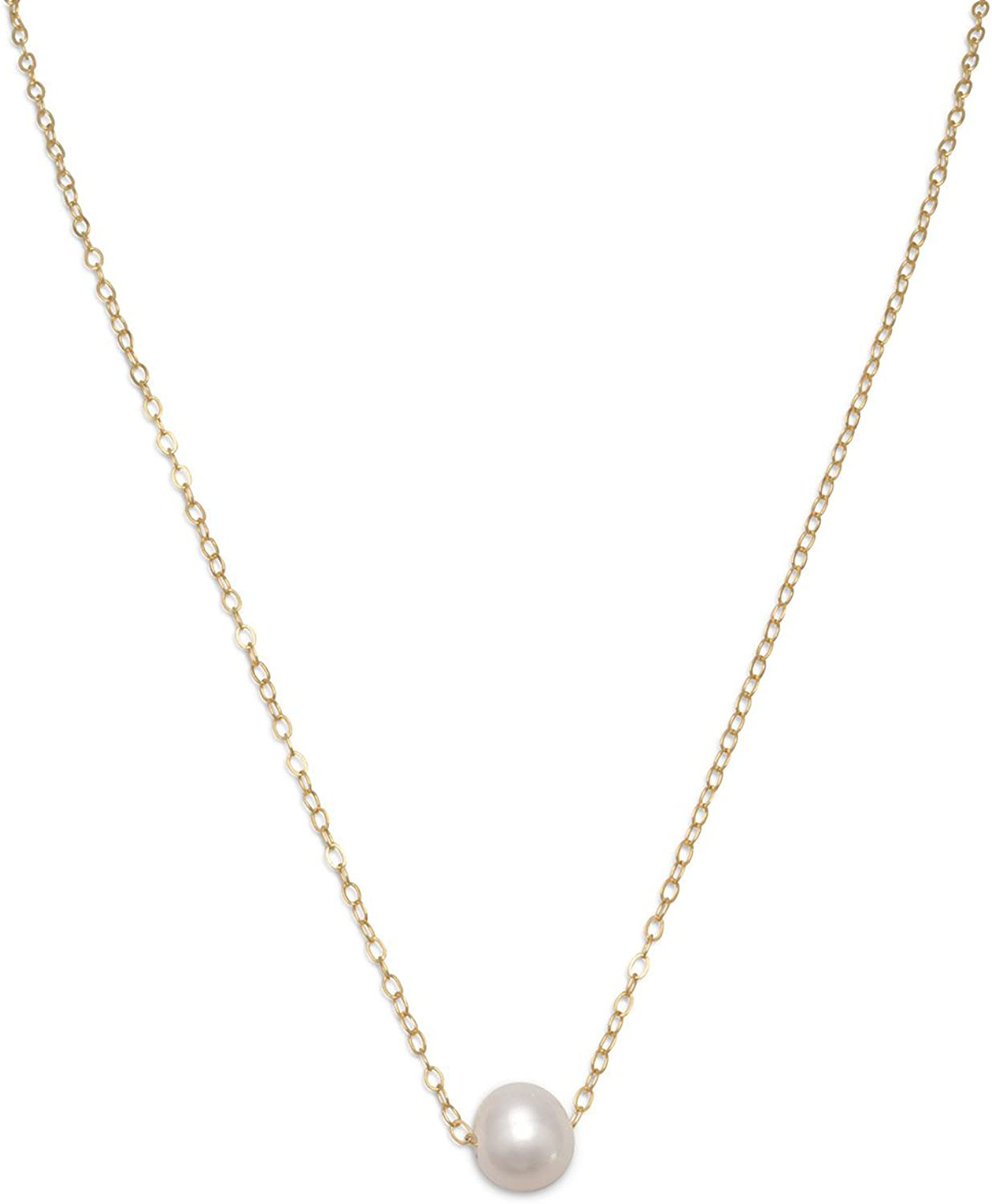 16K Polished Gold Plated over Brass 2pcs  NB0060-PG Freshwater Pearl Pendant Freshwater Pearl Beads Freshwater Pearl Charm