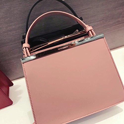 shopping bag simple President handbag solid Pink Pipulade shoulder classic color bag single 7vpZwz