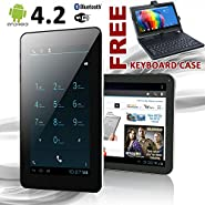 "Phablet 7"" Android 4.0 GSM Tablet Phone - GSM Unlocked - Keyboard Case Bundled"