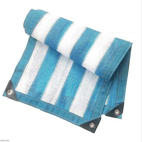 可動シェフ近所のLIXIONG オーニングシェード遮光ネット シェード通気性無臭多目的フローラル保護オーニングメタルホール付きポリエチレン、18サイズ (色 : Blue White, サイズ さいず : 3x3m)