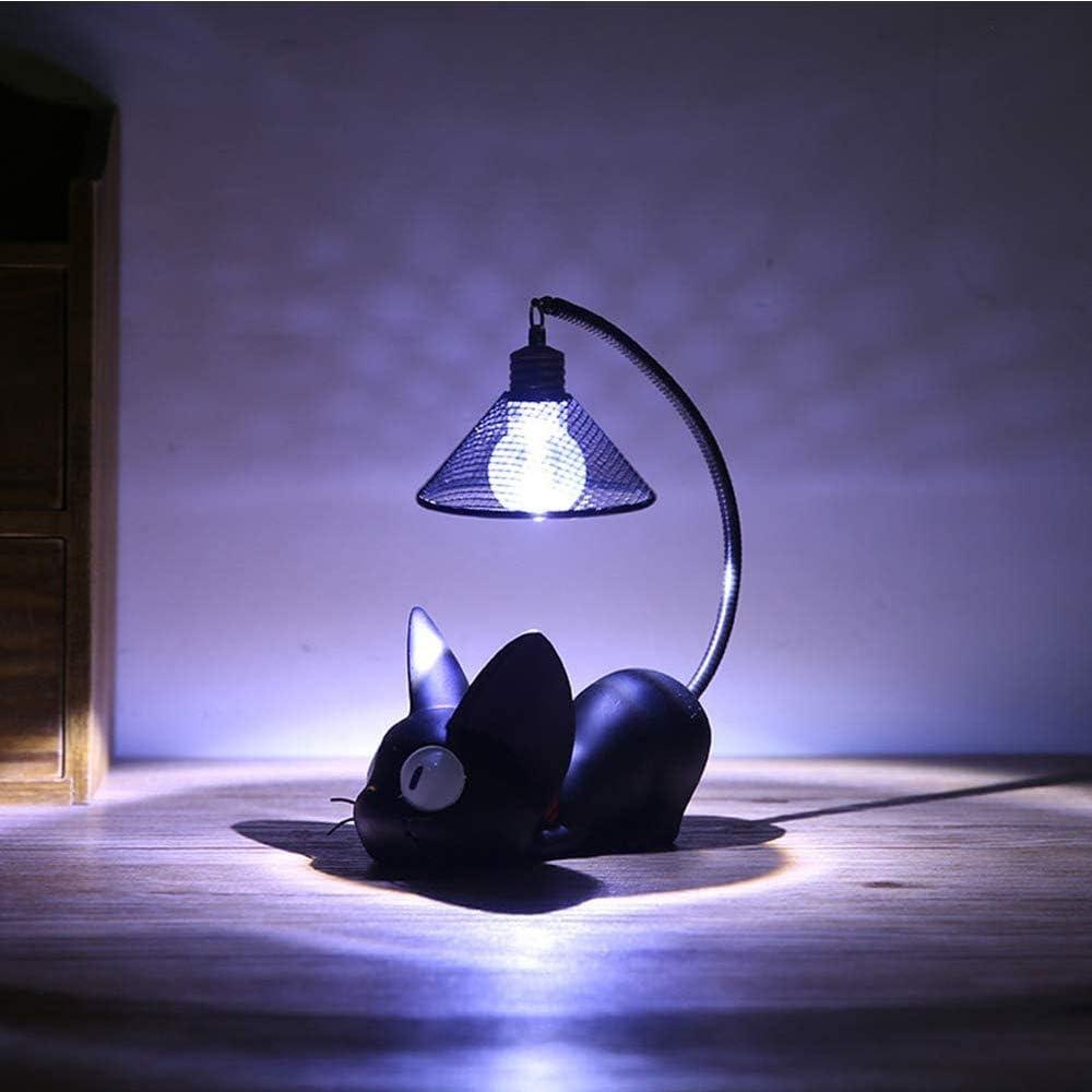 para Ni/ños Decoraci/ón para Dormitorio Luz de Noche de Gato Negro para Ni/ños Gato Negro Noche Luces Decoraci/ón L/ámpara de Noche Mesita de Noche L/ámpara Led de Resina de Dibujos Animados